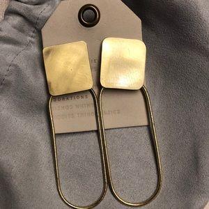 Anthro Sibilia Elliptical Orb earrings